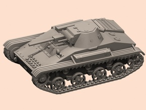 1/100 T-60 tank TEST in Smoothest Fine Detail Plastic