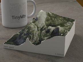 Half Dome, California, USA, 1:25000 in Full Color Sandstone