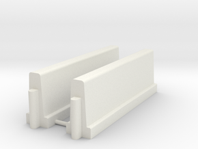 Betonnen barrier         HO in White Natural Versatile Plastic