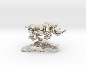 Rhino  in Platinum
