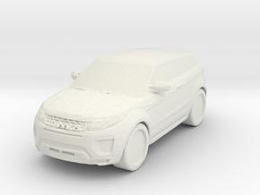 Range Rover Evoque 1/72 in White Natural Versatile Plastic