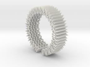 Spike Bracelet - Flexible Medium Size in White Natural Versatile Plastic