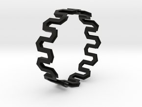 Medium Size - Pattern Bracelet in Black Strong & Flexible