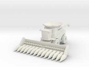 J.D. T Combine Harvester 1/220 in White Natural Versatile Plastic