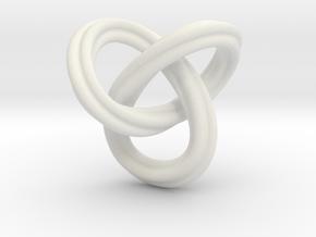 trefoil knot 1610262240 in White Natural Versatile Plastic