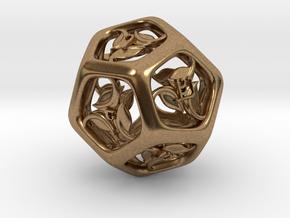 Tengwar Elvish D12 in Natural Brass