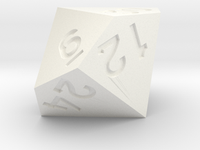 3 times table d10 in White Processed Versatile Plastic