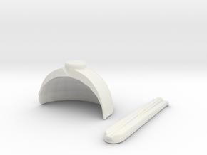 650 TOS impulse housing shuttlebay doors in White Natural Versatile Plastic
