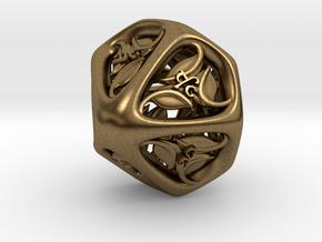 Tengwar Elvish D% (Numbered 00-90) in Natural Bronze