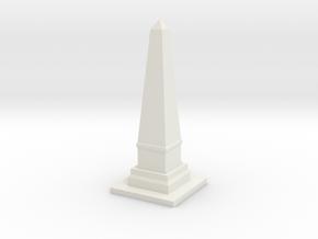 Obelisk Monument 1/144 in White Natural Versatile Plastic