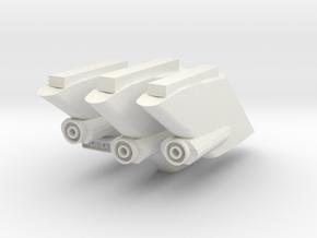 1000 TOS dorsal main deflector part set in White Natural Versatile Plastic