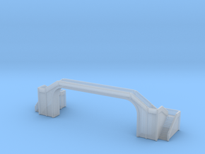Railway Foot Bridge long 1/1000 in Smooth Fine Detail Plastic