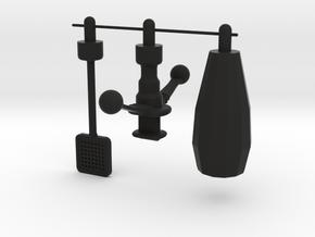 Origins He-Man - Trap Jaw 3 Advanced Attachments in Black Natural Versatile Plastic