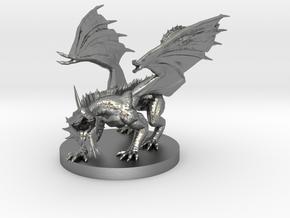 Silver Dragon Wyrmling in Natural Silver