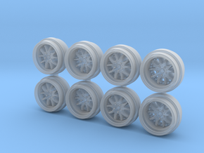AGLE Strusse 85-0 Hot Wheels Rims in Smooth Fine Detail Plastic
