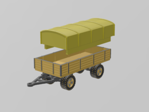 German 5 ton Trailer 1/160 in Smooth Fine Detail Plastic