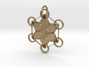 Source Light Unity Pendant in Polished Gold Steel