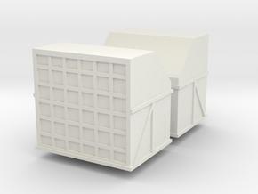 AMX Air Cargo Container (x2) 1/160 in White Natural Versatile Plastic