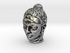 Gandhara Buddha 1.5 inches tall in Antique Silver