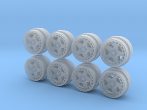 TurboMac 8-6 Hot Wheels Rims in Smooth Fine Detail Plastic