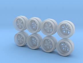 Multipiece Fuchs 8-5 Hot Wheels Rims in Smooth Fine Detail Plastic