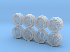 RF Six 9-0 Hot Wheels Rims in Smooth Fine Detail Plastic