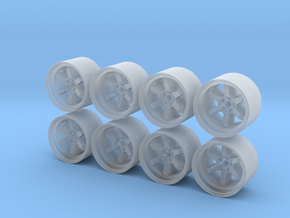 TE37V 12x8mm 1/43 Scale Wheels in Smooth Fine Detail Plastic