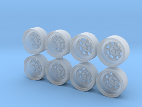 Hayashi Street CR 11x5mm 1/43 Scale Wheels in Smooth Fine Detail Plastic