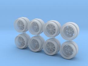 4 Spoke Fuchs OL 7-3 Hot Wheels Rims in Smooth Fine Detail Plastic