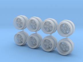 7.3mm Fuchs Hot Wheels Rims in Smooth Fine Detail Plastic
