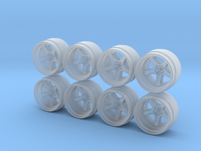 Work RSZR Hot Wheels Rims 9mm in Smooth Fine Detail Plastic
