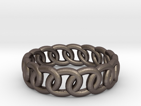 GBW14 Lds Band in Polished Bronzed Silver Steel