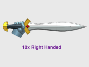 10x Energy Sword: Xiphos (Right-handed) in Smooth Fine Detail Plastic