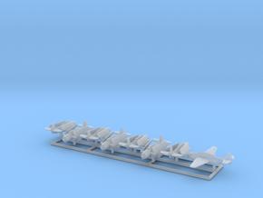 TBF w/Gear x8 (WW2) in Smooth Fine Detail Plastic: 1:600