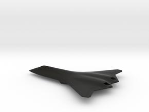 F/A-XX Sixth Gen Fighter (Cranked Arrow variant) in Black Natural Versatile Plastic: 1:200
