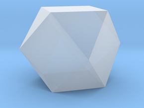 Cuboctahedron - 10 mm in Smooth Fine Detail Plastic