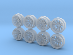 SSR CV01 85-5 Hot Wheels Rims in Smooth Fine Detail Plastic