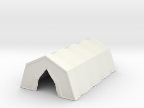Military Tent 1/87 in White Natural Versatile Plastic