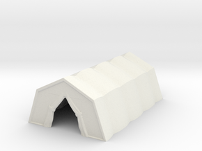 Military Tent 1/56 in White Natural Versatile Plastic