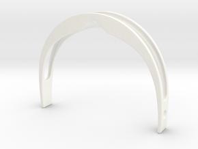 Star Trek Visor Frame (no ear loops) in White Processed Versatile Plastic: Small