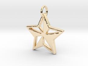 Star Pendant- Makom Jewelry in 14K Yellow Gold