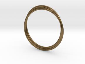 Infinity Bracelet in Natural Bronze