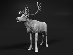 Reindeer 1:16 Female with mouth open in White Natural Versatile Plastic