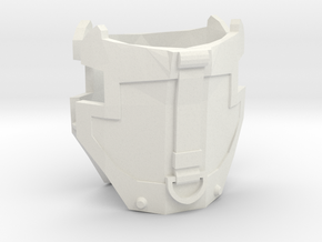 1/6 scale hip armor with strap 1 pair in White Strong & Flexible
