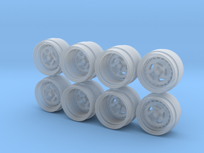 SSR Aero 9W Hot Wheels Rims in Smooth Fine Detail Plastic