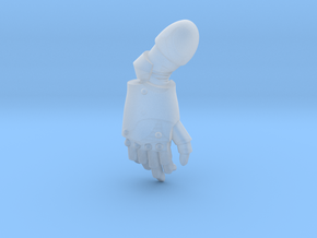 Plain Right Handed Power Fist in Smooth Fine Detail Plastic