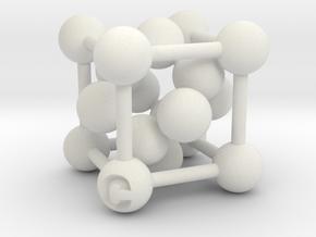 Diamond Crystal Structure [1:24mil Scale] in White Premium Versatile Plastic