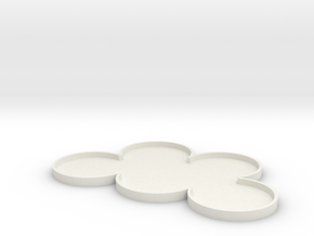 5 Man 25mm movement tray in White Natural Versatile Plastic