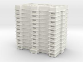 Residential Building 02 1/1000 in White Natural Versatile Plastic