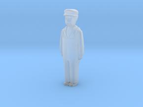Capsule Worker Standing in Smooth Fine Detail Plastic